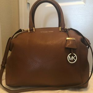 Michael Kors Leather Satchel w/ Long Strap